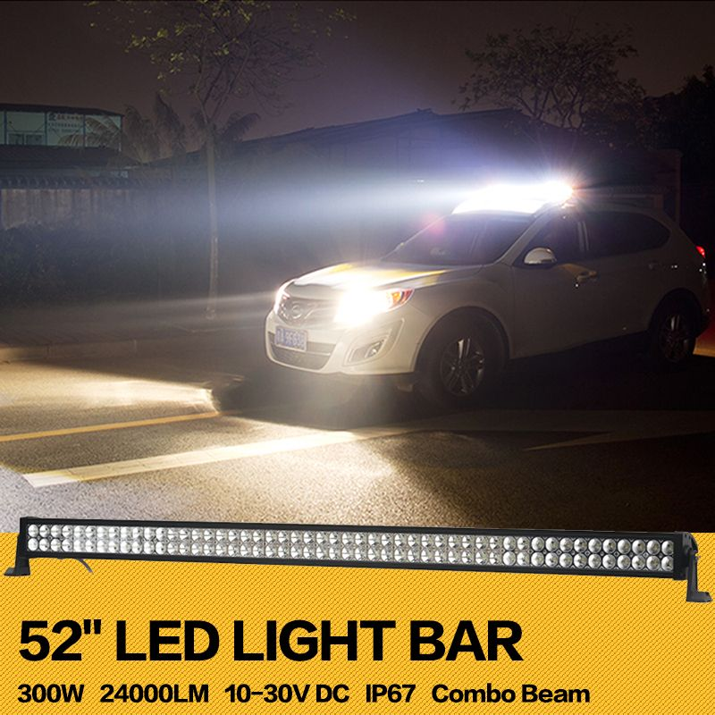 300w 52inch offroad led light bar work working drive driving light 300w 52inch offroad led light bar work working drive driving light combo for aloadofball Choice Image
