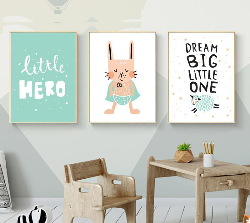 Kids Hero Boys Gifts Wall Art Canvas Decorative Pictures Poster Print Wall Art Room Kids Decor Ninos Cuadros