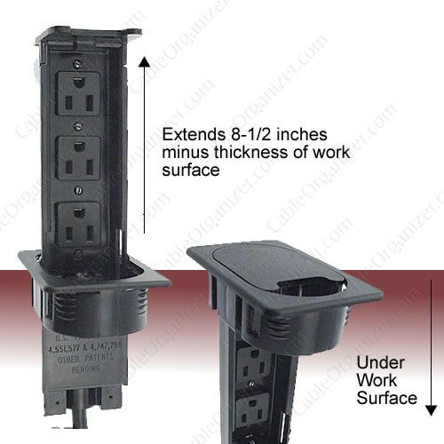 Awesome Also From Cableorganizer.com   This Is Three Power Outlet Popup. They Have A