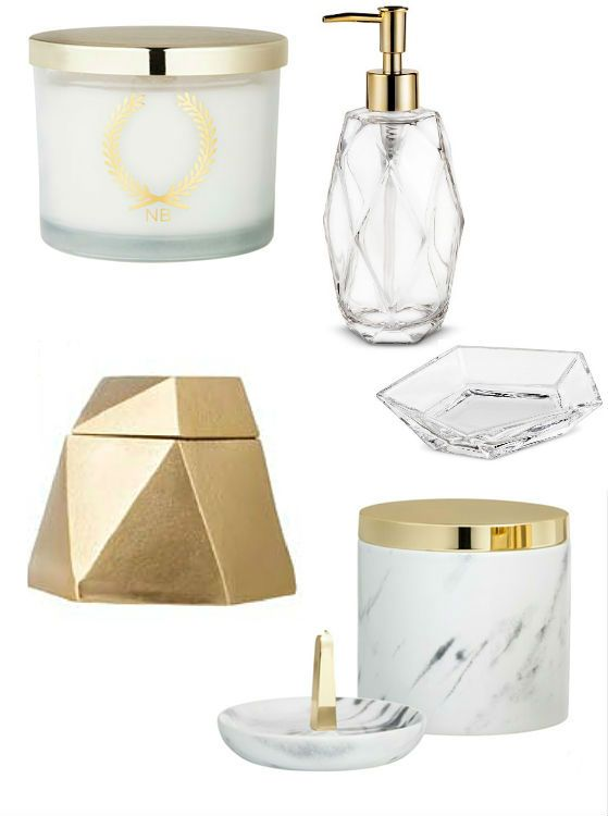 Bathroom Accessories Gold