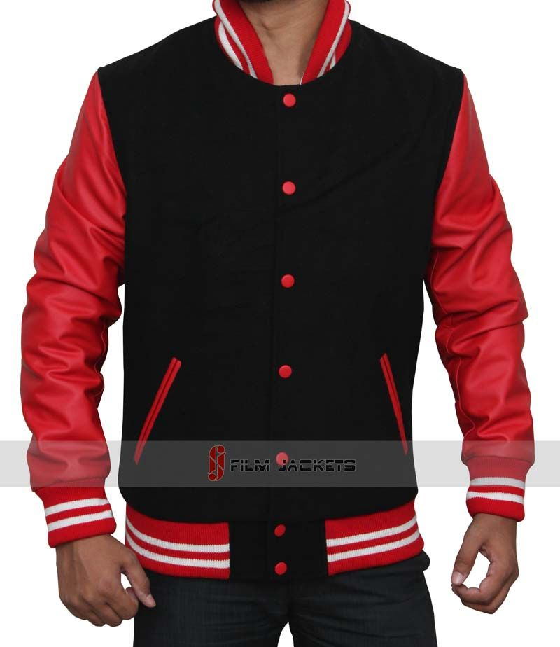 Black And Red Letterman Jacket Jackets Letterman Jacket Varsity Jacket