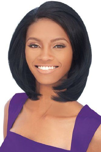 Sweety Short Wavy Brown No Bang African American Lace Wigs For Women 12 Inch