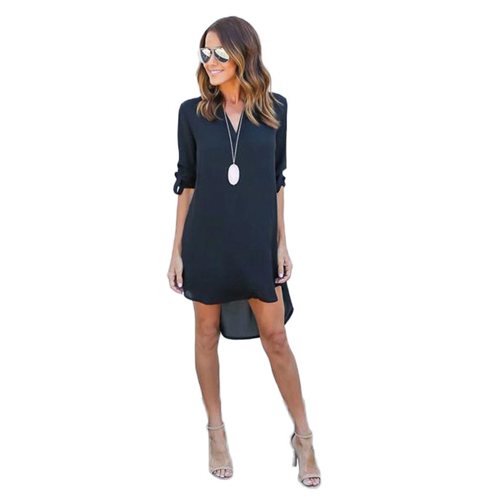 High quality autumn dresses fashion women casual loose plus