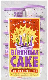 Blue Bell Ice Cream Cups Birthday Cake flavor just wish it was