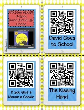 Stories about School QR Code Read Aloud Listening Center - FREEBIE