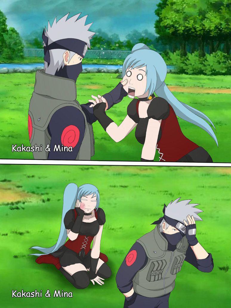 Kakashi And Mina Funny Moment By Pungpp Kakashi Naruto Shippuden Anime Kakashi Funny