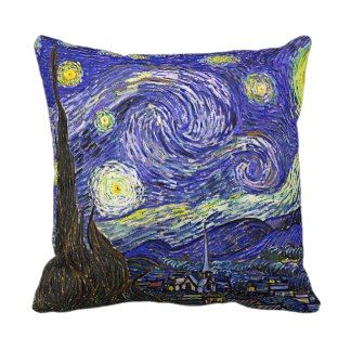 Starry Night Famous by Vincent van Gogh Pillows