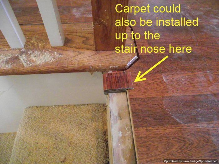 Patterned Carpet On Stairs With Wood Bullnose | Now I Have The Carpet  Installed On The Stairs And The Laminate On The .