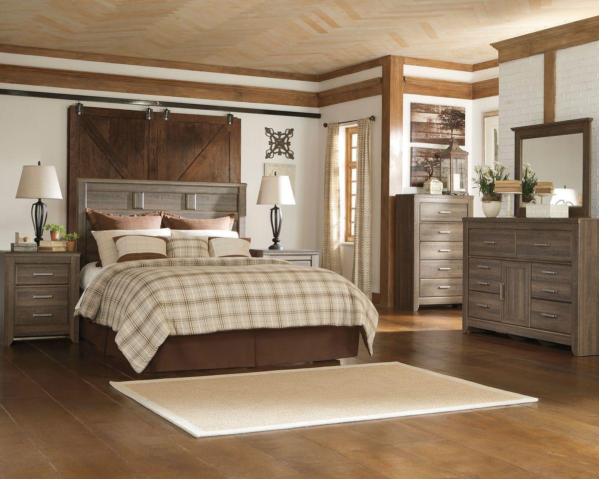 Ashley Juararo 4 Pc. Dresser, Mirror, Chest & Queen Panel