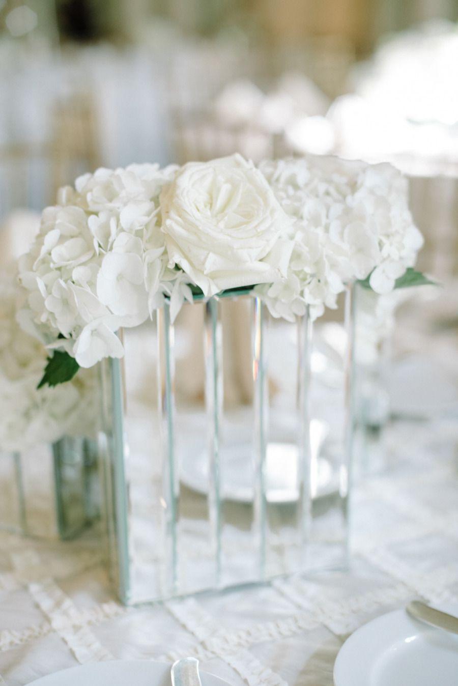 White-Themed Ballroom Glamour Atlanta Wedding | Ballrooms, Wedding ...