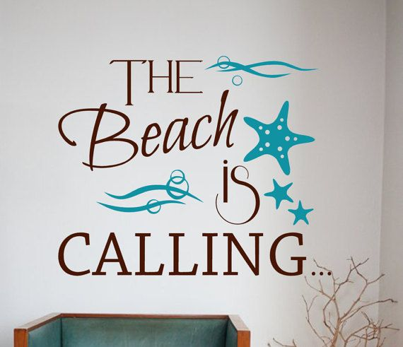 Ocean Vinyl Wall Decal Decor Nautical Decor Beach Quotes - Wall decals beach quotes