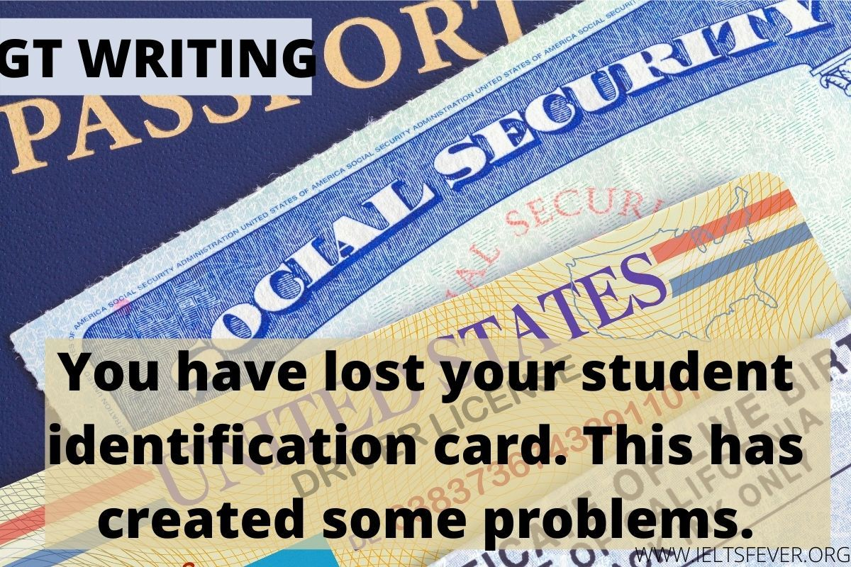You Have Lost Your Student Identification Card Ielts Student Student Services