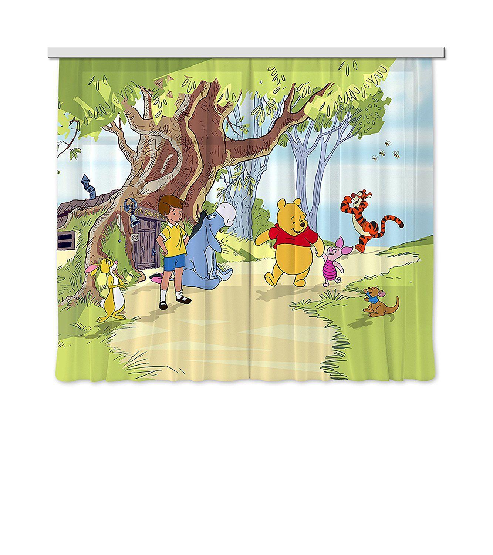 Vorhänge / Gardine mit süssem Winnie Pooh Motiv | Kinderzimmer ...