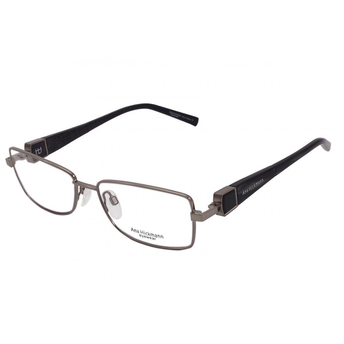 Oculos De Grau Ana Hickmann Duo Fashion Ah1248 02a Tam 54 Square