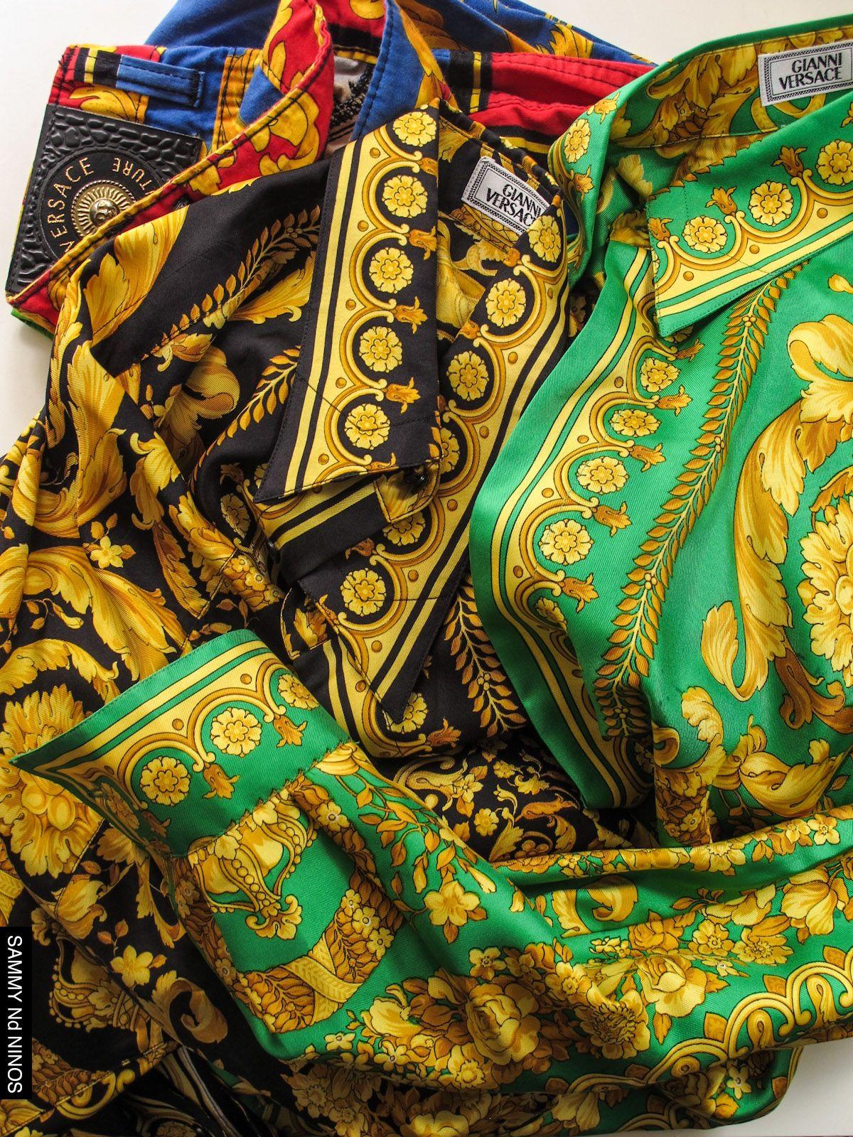 Mens Vintage Versace Silk Shirts