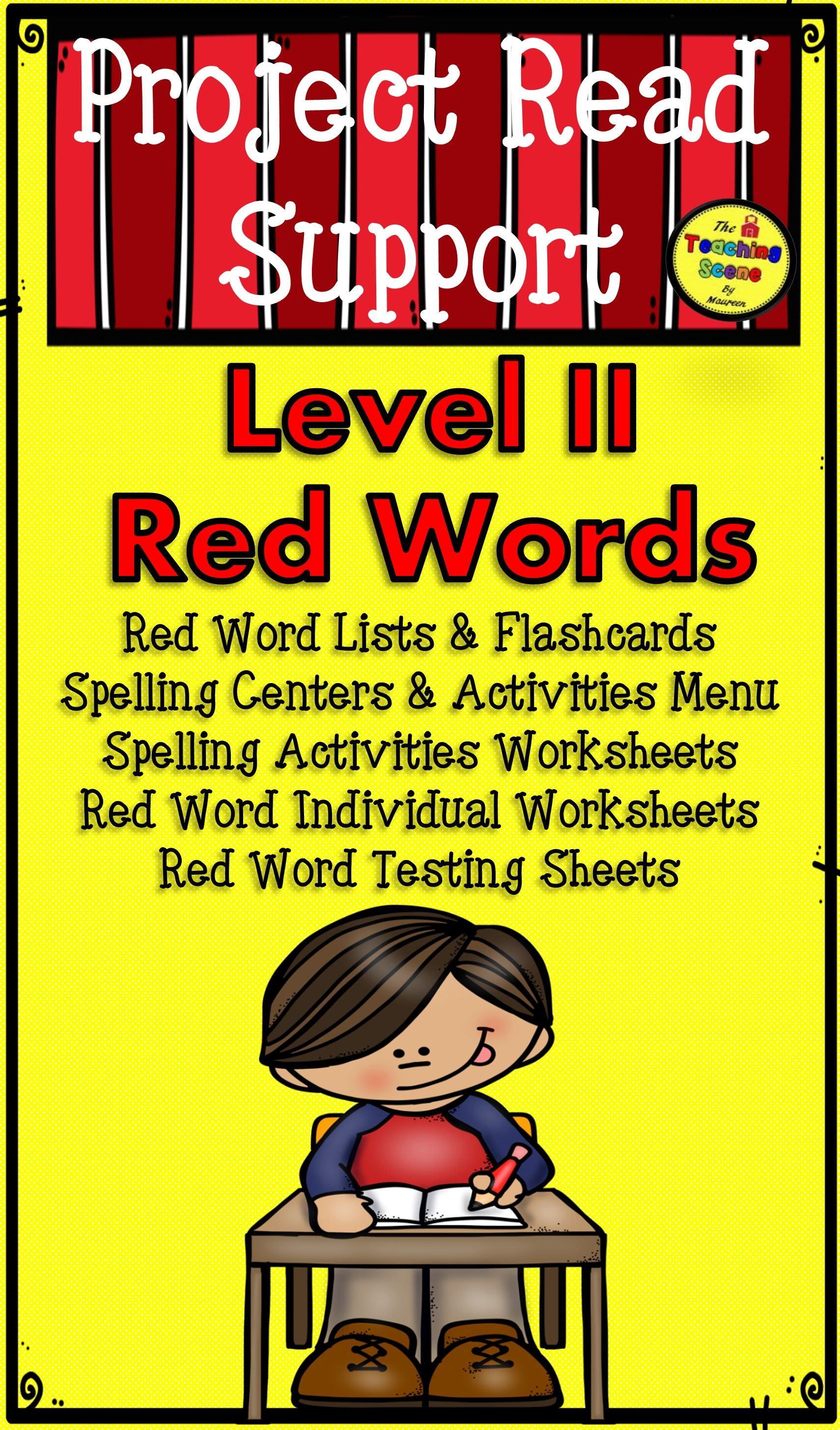Project Read Support Red Word Level Ii Centers