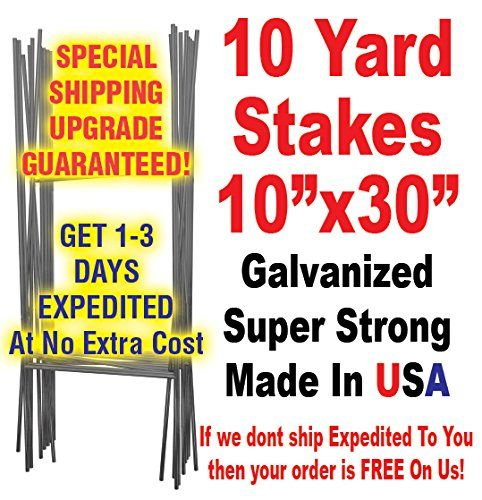 Yard Signs - Heavy Duty H Frame Wire Stakes Pkg of 10200 ea Yard ...