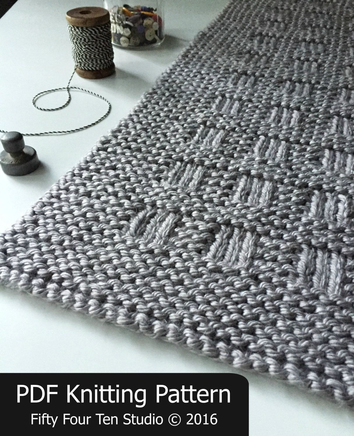 The Westport Blanket KNITTING PATTERN is easy to knit with super ...