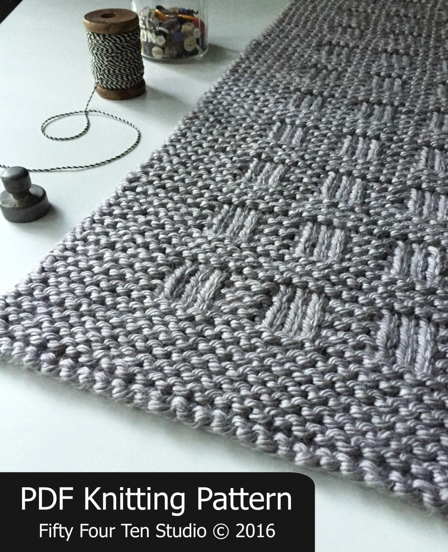 KNITTING PATTERN / Westport Blanket / Throw / Afghan / Knit / Gift ...