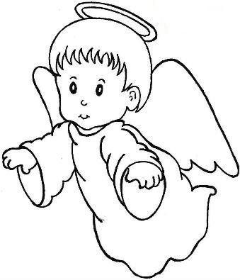 Ange dessin recherche google idees terre cuites - Coloriage d ange ...