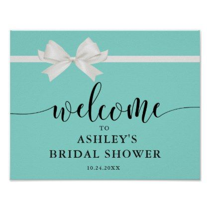 Tiffany bride and co bridal shower welcome poster bride gifts tiffany bride and co bridal shower welcome poster baby shower ideas party babies newborn gifts negle Images