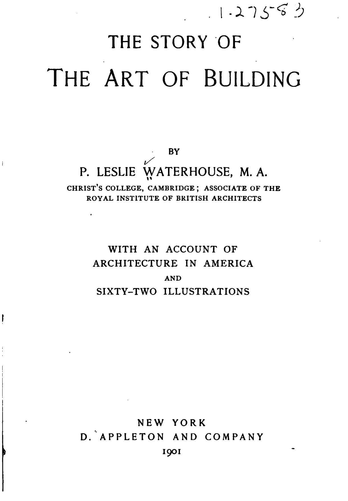 The Story Of The Art Of Building Waterhouse Percy