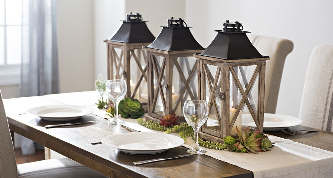 Fill Your Home With Farmhouse Charm Dining Room Table Centerpieces Dinning Table Decor Dining Room Lantern