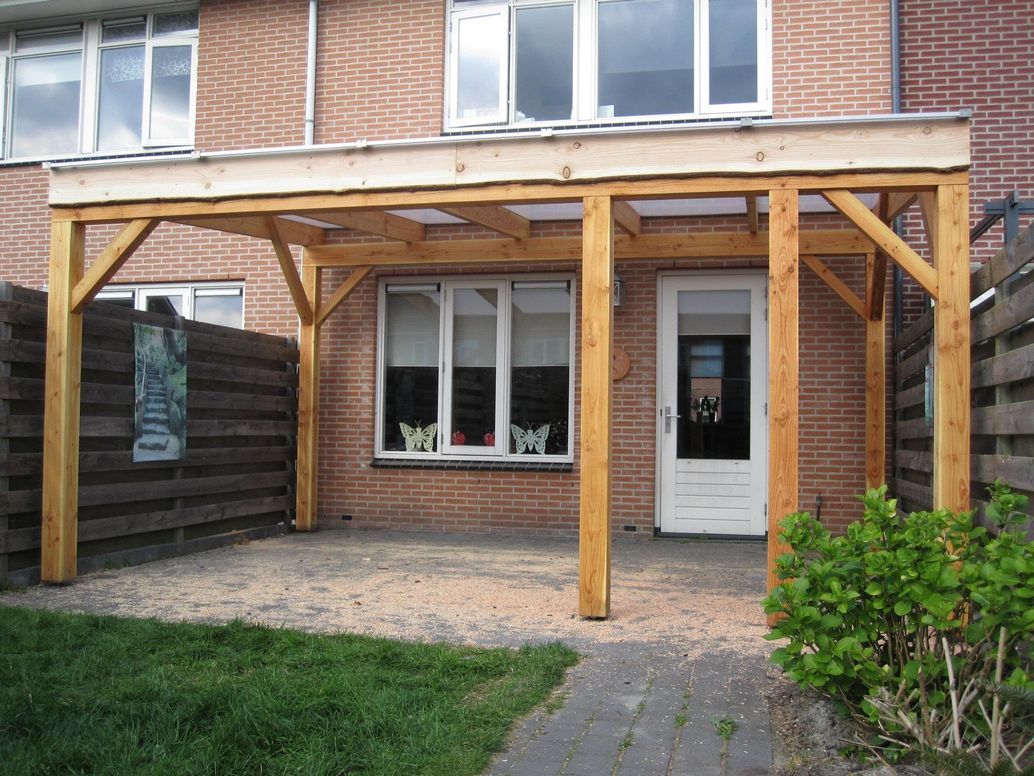Veranda met polycarbonaat platen Zagerij Popken Garden