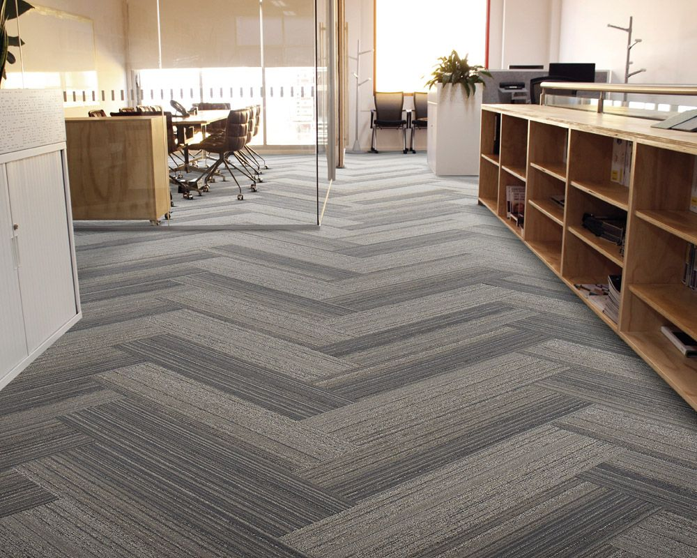 Herringbone carpet tile google search office for Industrial flooring for homes