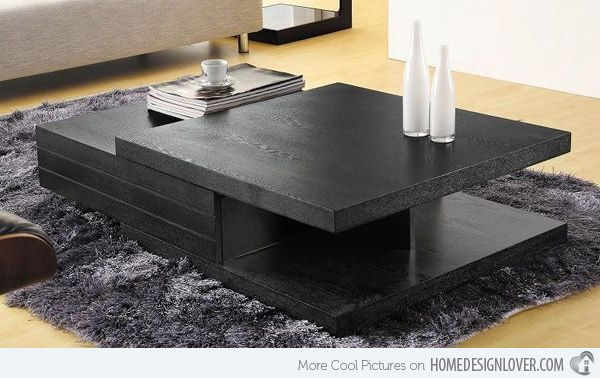 15 Modern Center Tables Made From Wood Home Design Lover Modern Square Coffee Table Center Table Centre Table Design