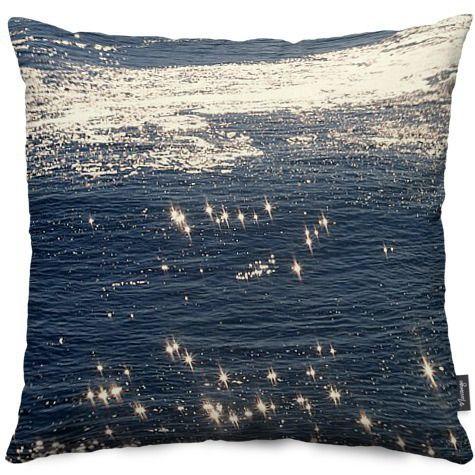 sparkling ocean by littlesilversparks - Throw Pillows - $40.00