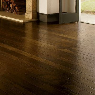 Armstrong Artesian Random Width Engineered Hickory Hardwood Flooring in Wheatland