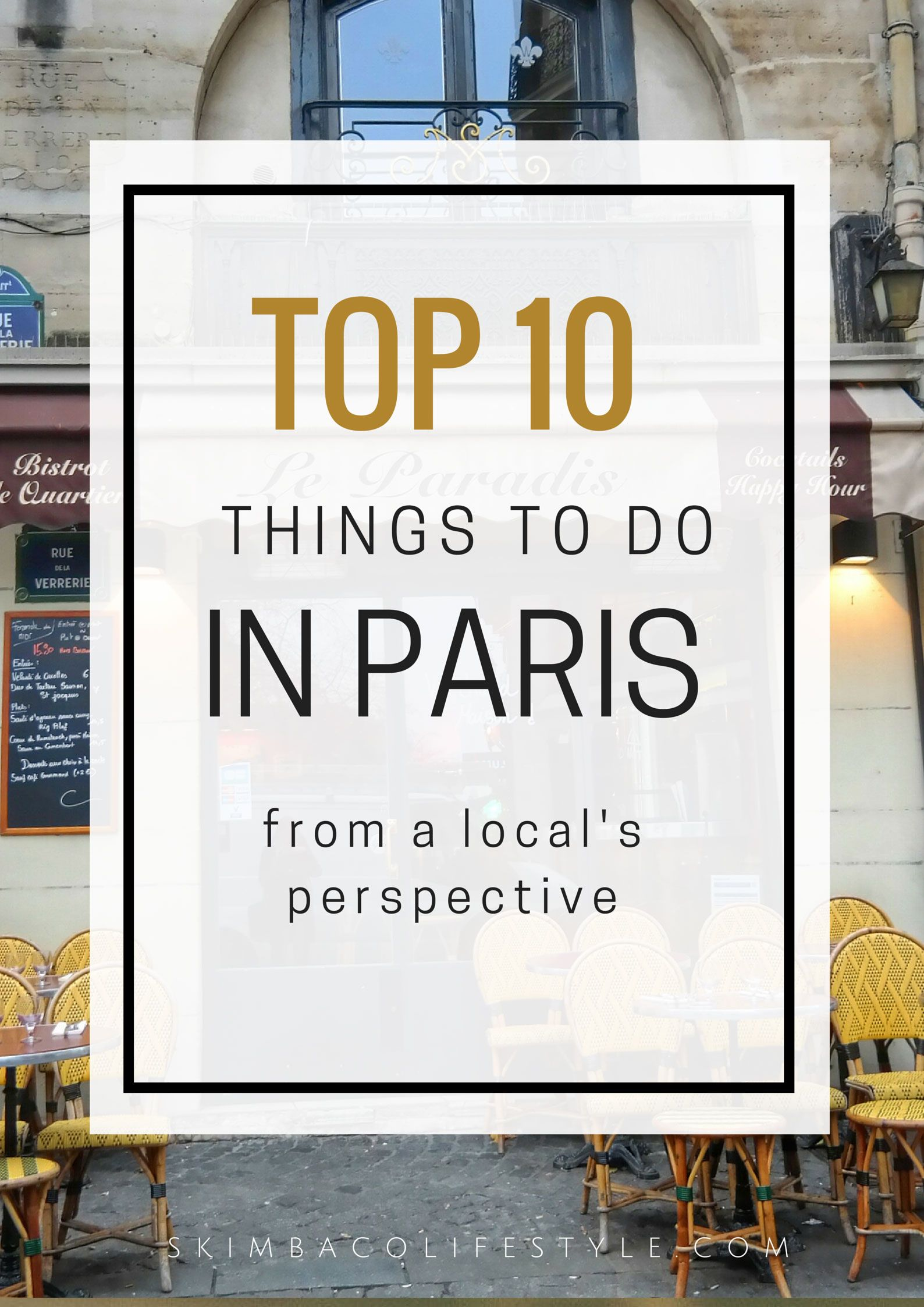 Top ten things to do in Paris from local's perspective. Avoid some of the most touristy things, and experience Paris like a local - a biking route around the city is included!
