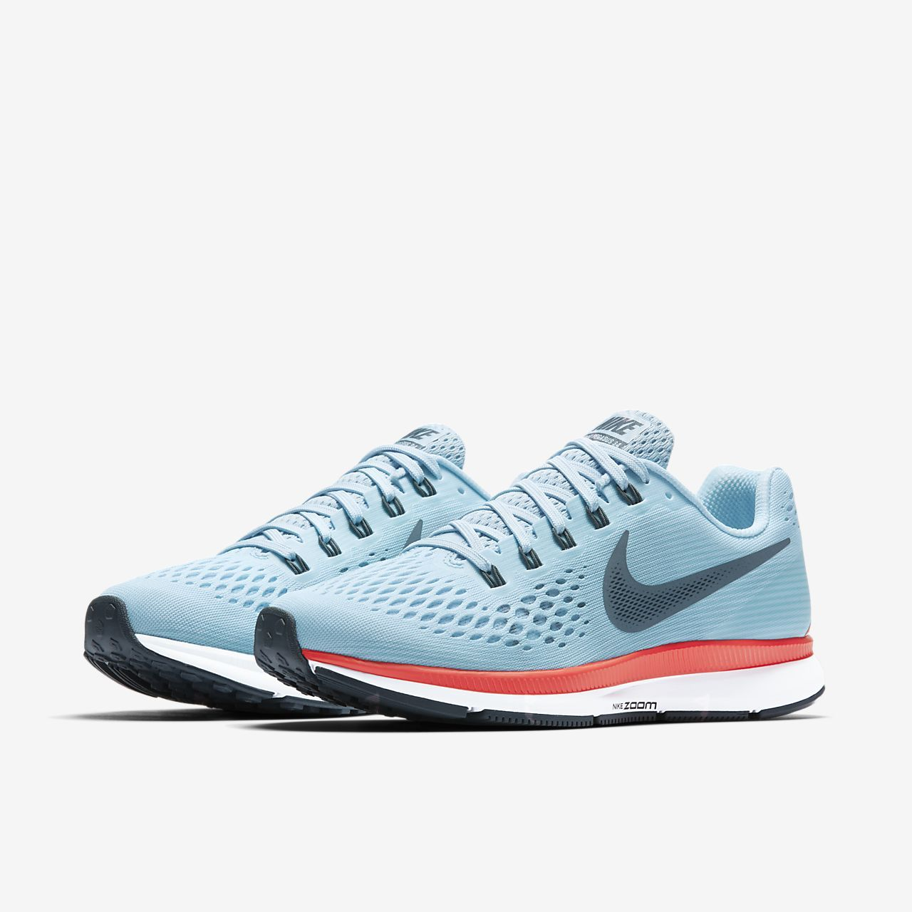 c9eafefba325 Nike Air Zoom Pegasus 34 Women s Running Shoe-Ice Blue Bright Crimson White Blue  Fox Style  880560-404