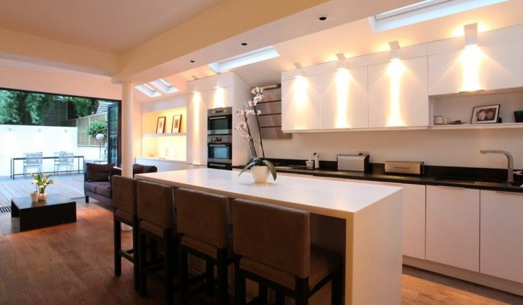 Iluminaci n led 75 ideas incre bles para el hogar for Ideas iluminacion cocinas