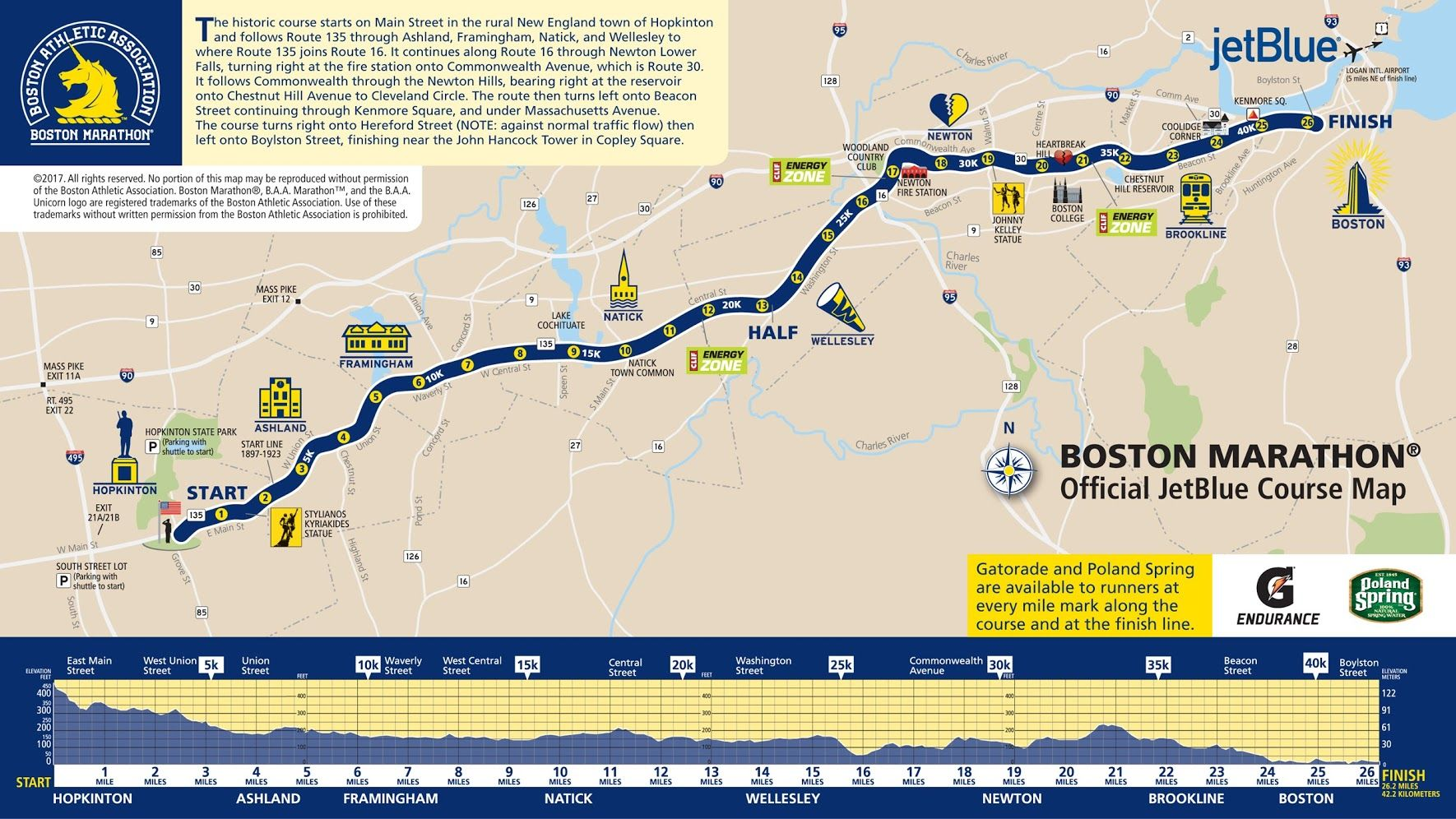 Boston Marathon 2017 Love And Heartbreak Boston Marathon Route Map Boston