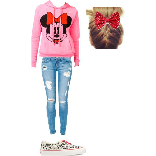 """minnie outfit"" by missbri2000 on Polyvore"