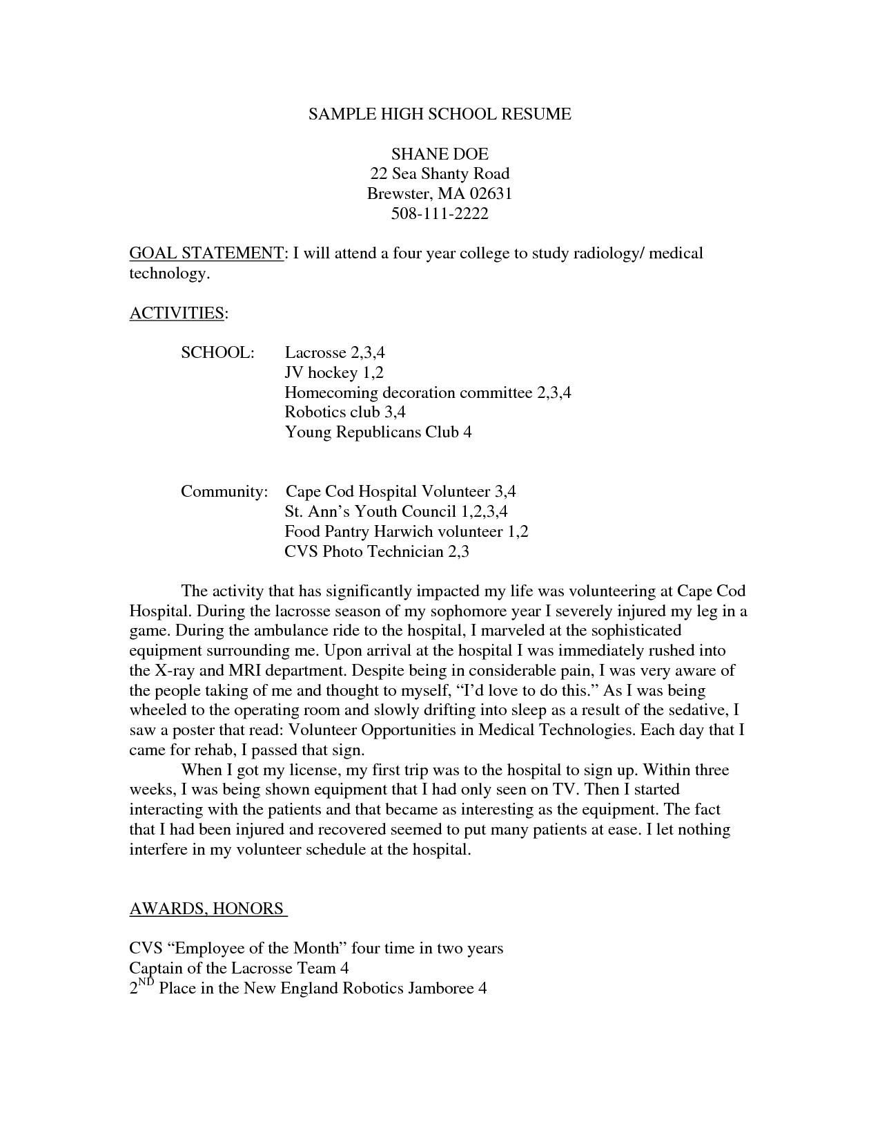 High School Resume Templates 2015 - Http://www.jobresume.website/high-School -Resume-Templates-2015-17/