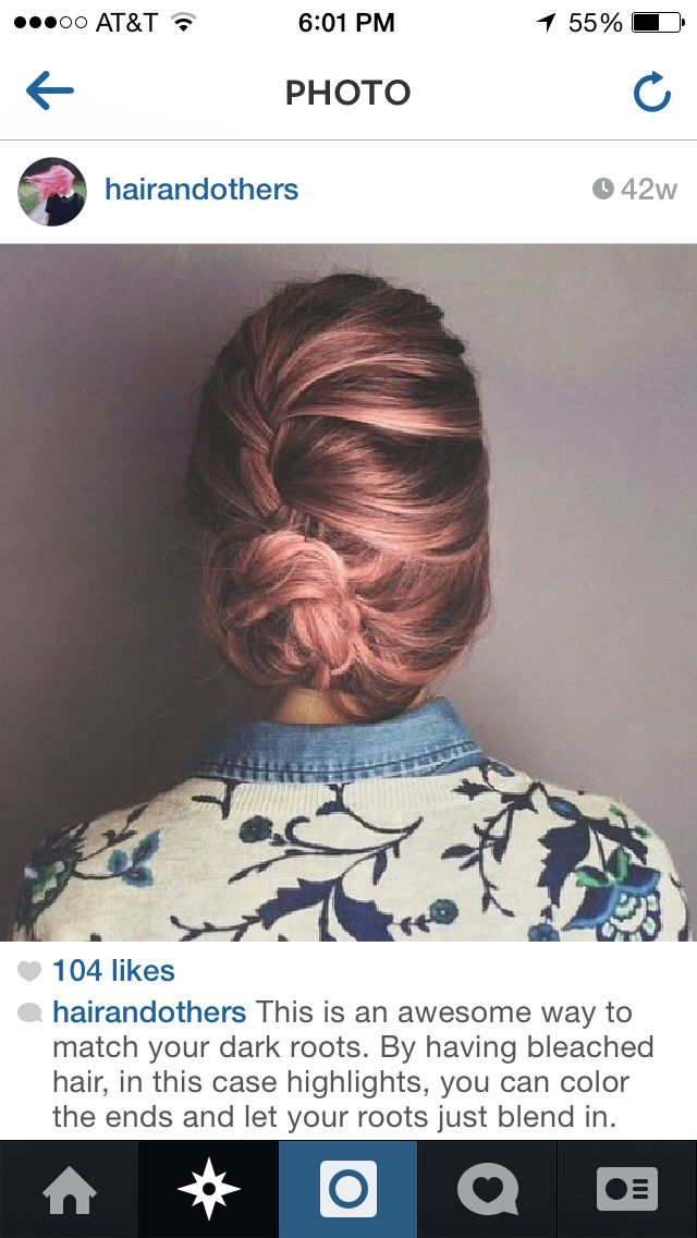 I love this! Pink highlights.
