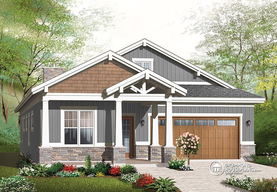 House Plan W3240 Es Beautiful Rustic Cottage With 2 Bedrooms 2 Living Rooms And Arra Craftsman Bungalow House Plans Craftsman House Plans Craftsman Bungalows