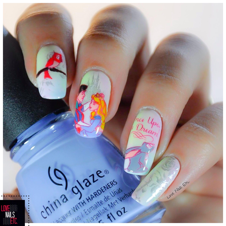 Nail La Belle: Sleeping Beauty Par Love Nails Etc