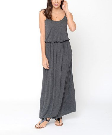 Look what I found on #zulily! Charcoal Blouson Maxi Dress #zulilyfinds