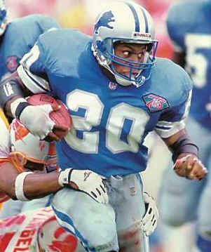 Barry Sanders 10 Time Pro Bowl Selection 15269 Yards 3rd On The All Rushing