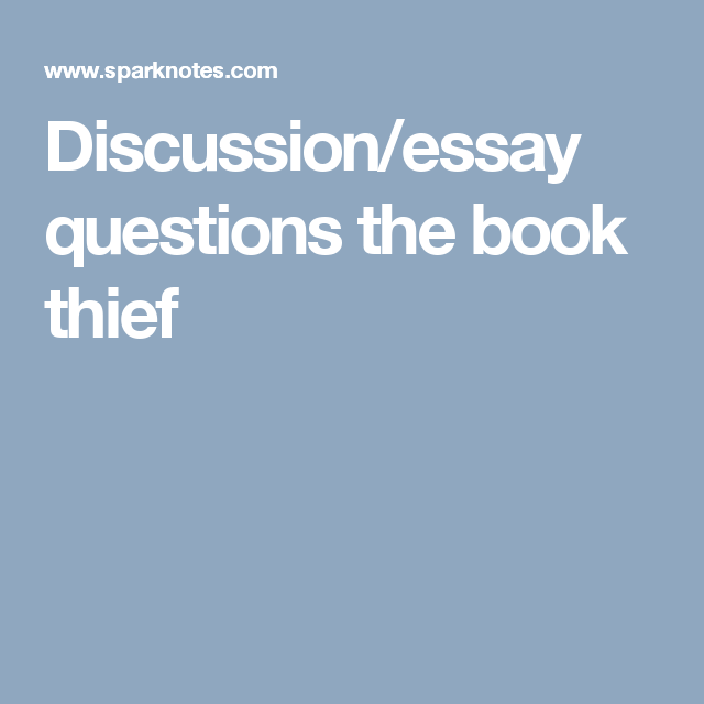 discussionessay questions the book thief  sister book club  the  discussionessay questions the book thief