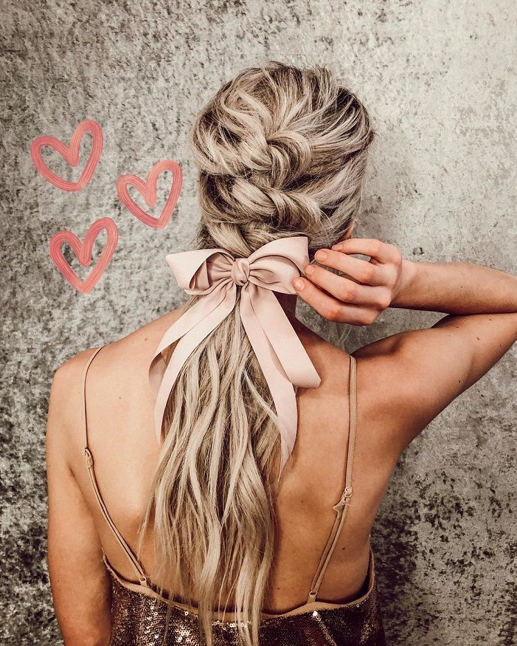 These hairstyles are lovely - braid hairstyle , gorgeous hair color, braided ponytails ,messy braids #hairstyle #haircolor #braids #hair #bun #cute