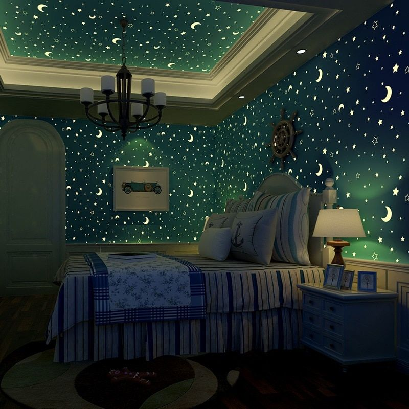 Black and White Iron Star Moonlight Continental Bedroom ...