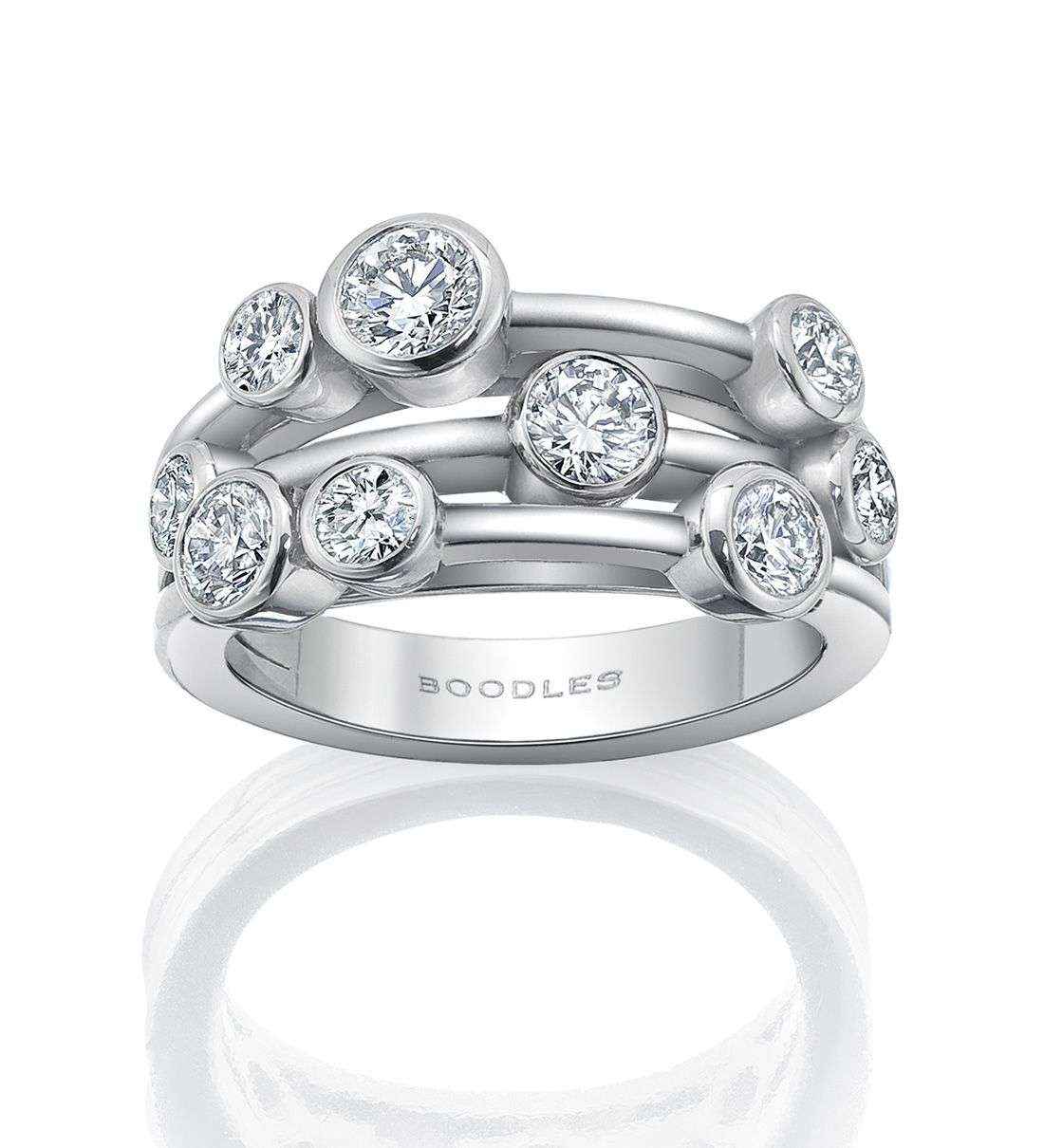 A contemporary versatile ring from boodles 39 raindance for Waterfall design ring