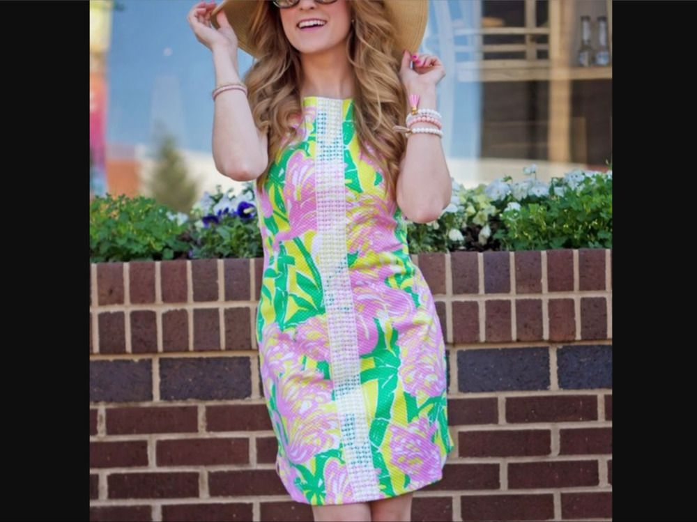 Nwt Lilly Pulitzer Dress Shift 18w 1x Target Fan Dance Flamingo
