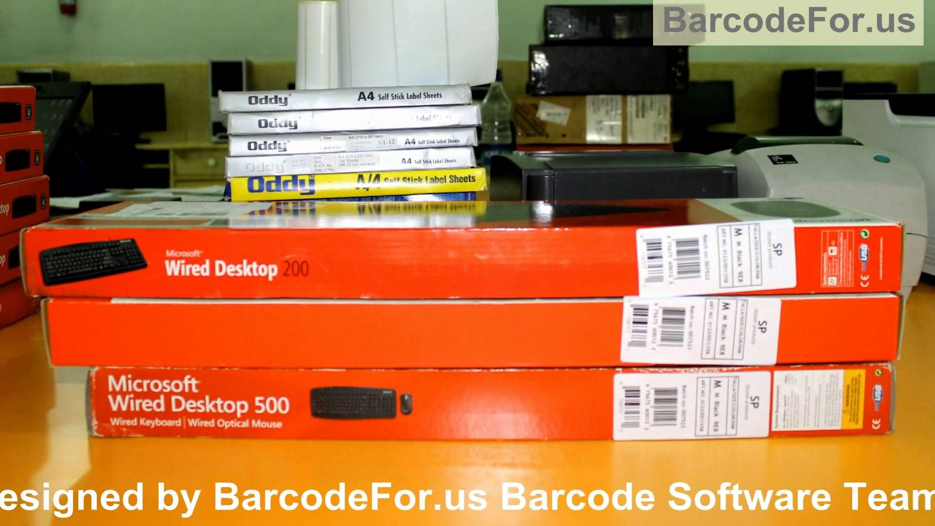 In this video you will learn how to create barcode label