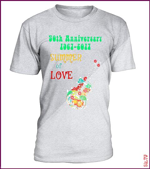 50th Anniversary Summer of Love Hippie Abstract Guitar Tee Special Offer not available in shops Comes in a variety of styles and colours 50th Anniversary Summer of Love H...
